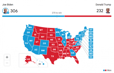 The Electoral College Map as of December 11th, 2020 by the Associated Press