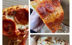 Wolfgang ('22) has pizza. Left is Zeeks, bottom right is Uncle Peteza, top right is Pagliacci.